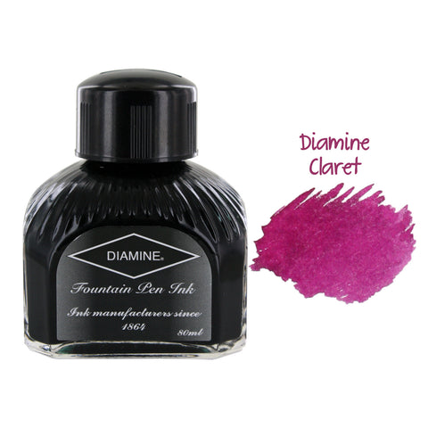 Diamine Fountain Pen Bottled Ink, 80ml - Claret