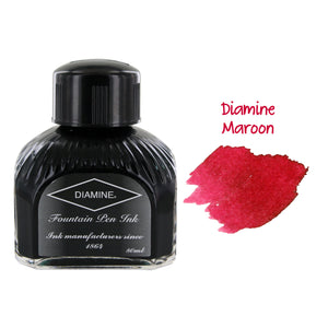 Diamine Fountain Pen Bottled Ink, 80ml - Maroon