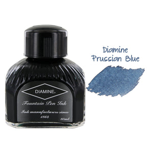 Diamine Fountain Pen Bottled Ink, 80ml - Prussian Blue