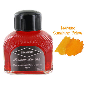 Diamine Fountain Pen Bottled Ink, 80ml - Sunshine Yellow