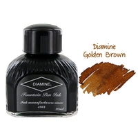 Diamine Fountain Pen Bottled Ink, 80ml - Golden Brown