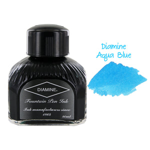 Diamine Fountain Pen Bottled Ink, 80ml - Aqua Blue