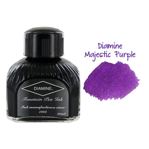 Diamine Fountain Pen Bottled Ink, 80ml - Majestic Purple