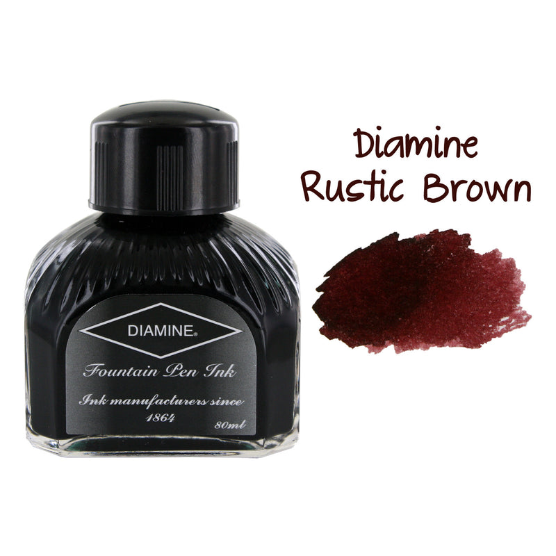 Diamine Fountain Pen Bottled Ink, 80ml - Rustic Brown