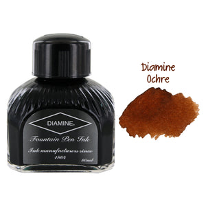 Diamine Fountain Pen Bottled Ink, 80ml - Ochre