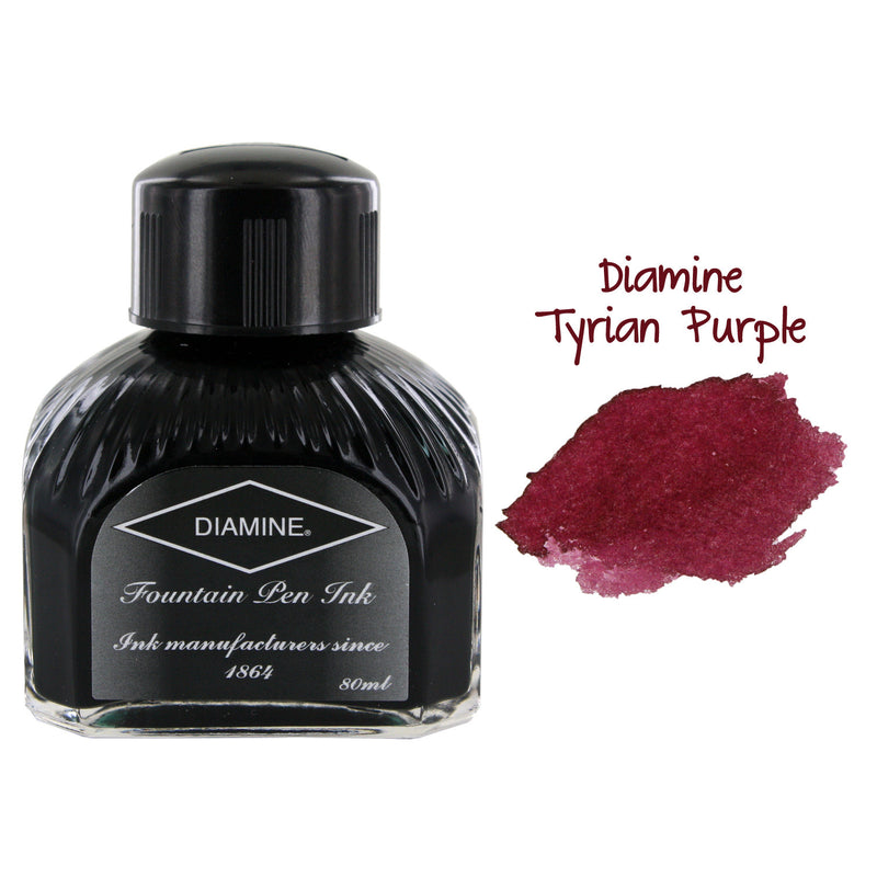 Diamine Fountain Pen Bottled Ink, 80ml - Tyrian Purple