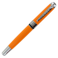JinHao 250 Orange Chrome Trim Fountain Pen - #6 Steel Nib