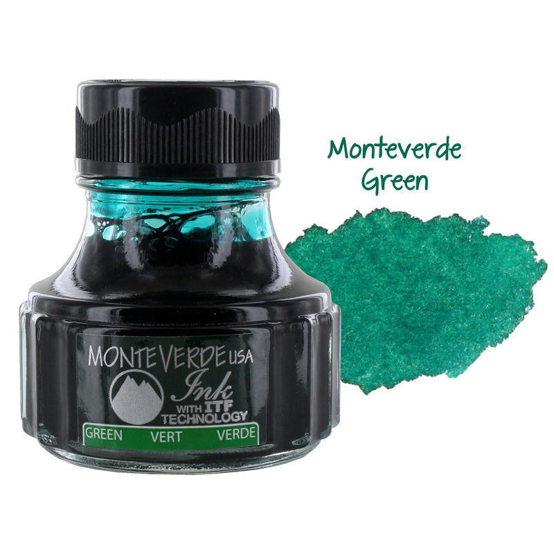Monteverde Fountain Pen Ink Bottle, 90ml - Green