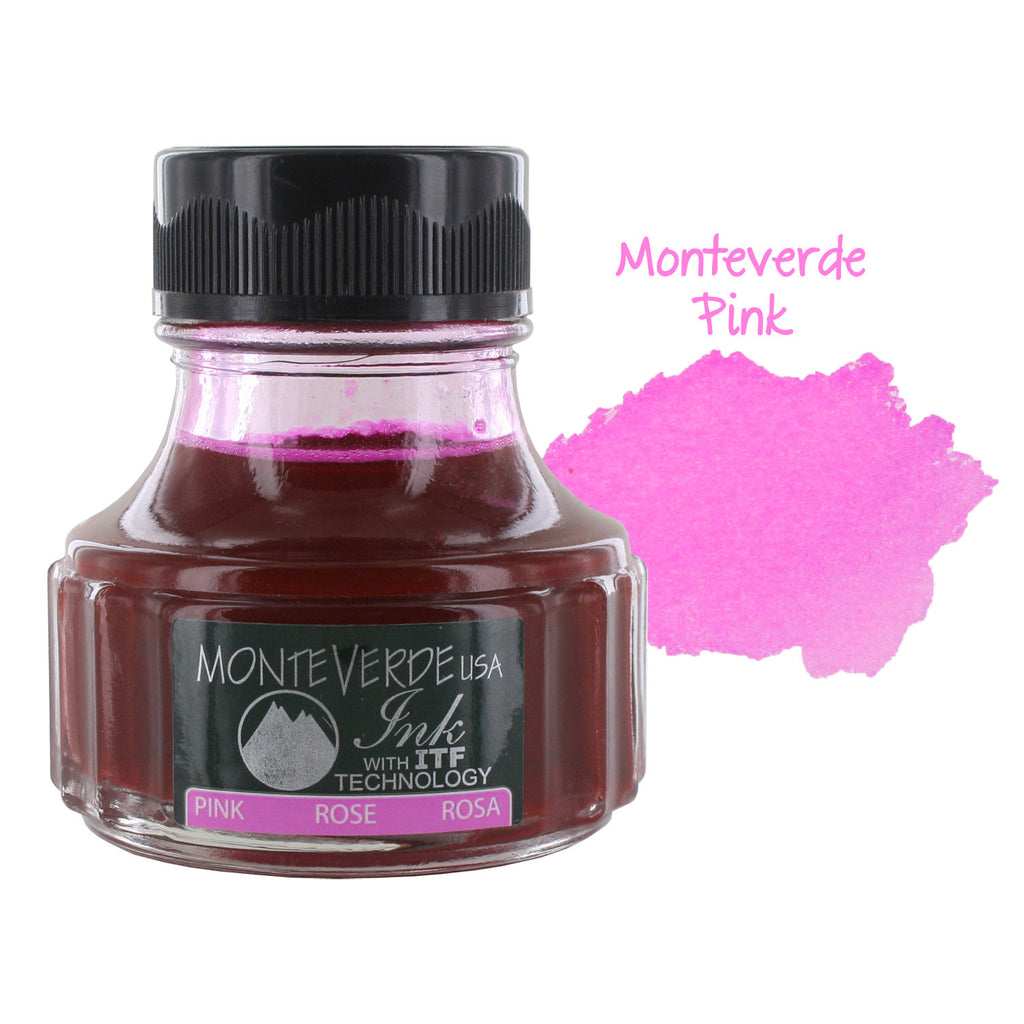 Monteverde Fountain Pen Ink Bottle, 90ml - Pink
