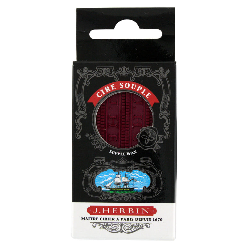 J. Herbin Supple Sealing Wax, 3 3/8 x 3/8 x 3/8, Pack of 4 - Burgundy