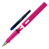 Lamy Safari Shiny Pink Fountain Pen - Medium Nib