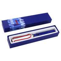 Lamy Safari USA Independence Fountain Pen with an Extra Fine Nib shown in the gift box.