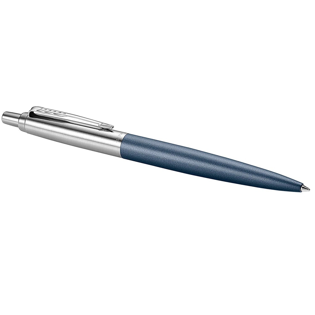 Parker Jotter XL Ballpoint Pen, Primrose Matte Blue, Chrome Trim, Medium Point, Blue Ink, Gift Box