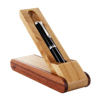 PSI Woodworking Two-Tone Rosewood/Maple Pen Box for Single Pen