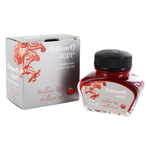 Pelikan 4001 Fountain Pen Ink Bottle, 30ml - Brilliant Red