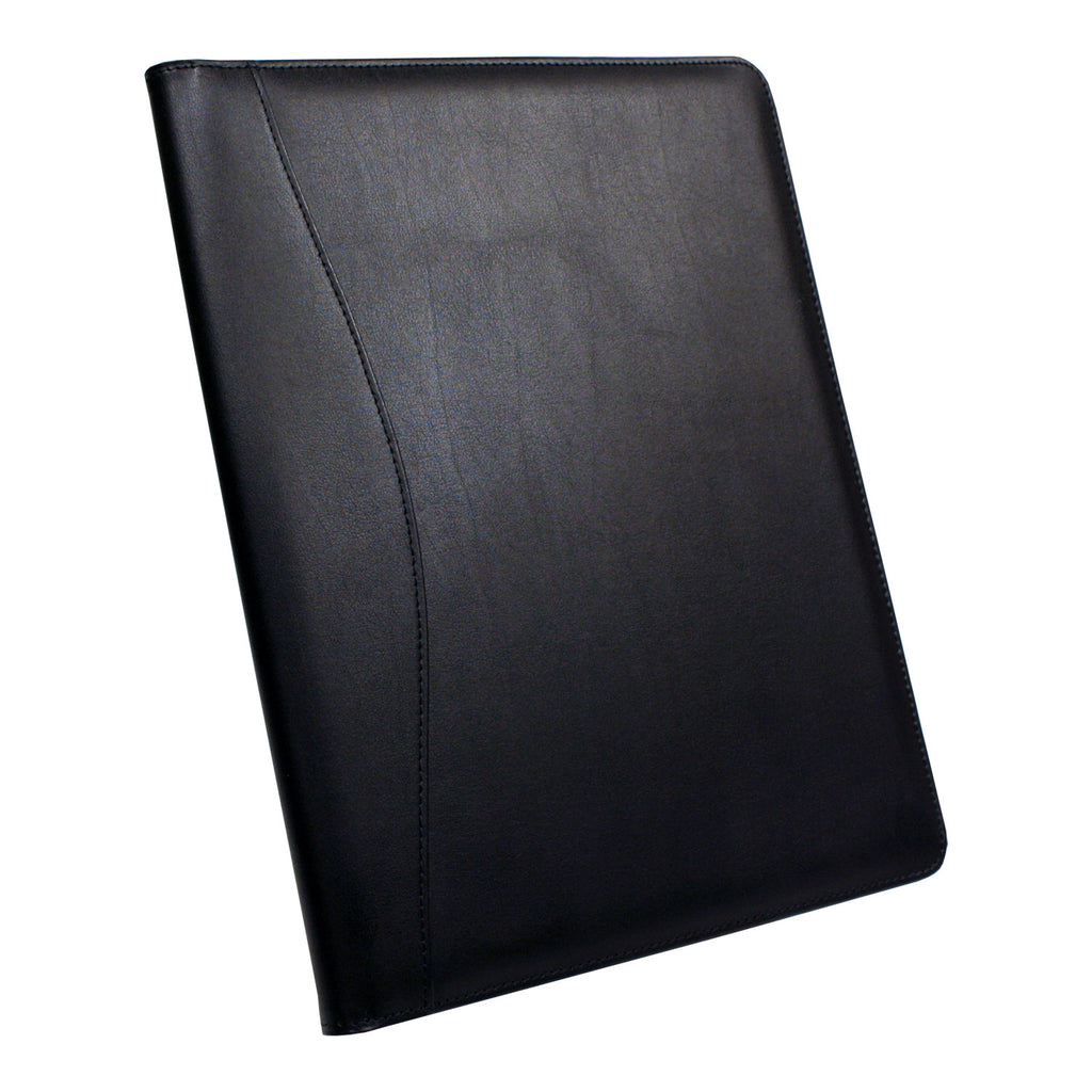 Royce Leather Classic Padfolio, Premium Bonded Leather - Black