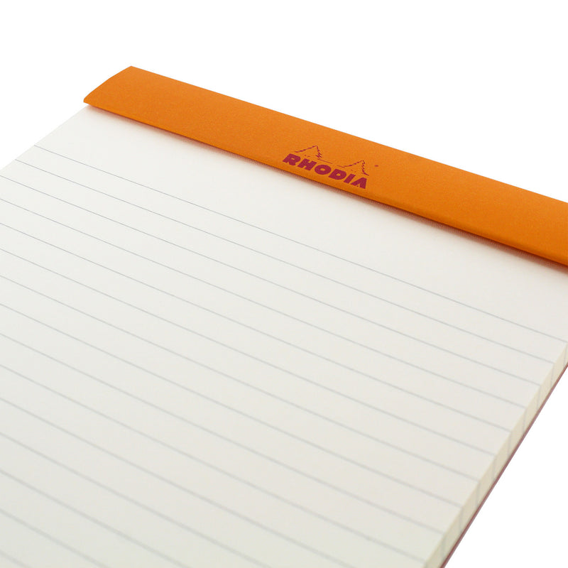 Rhodia Color A5 No. 16 Premium Stapled Lined Notepad, 70 Sheets, 6 x 8 1/4 - Taupe