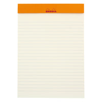 Rhodia Color A5 No. 16 Premium Stapled Lined Notepad, 70 Sheets, 6 x 8 1/4 - Anis Green