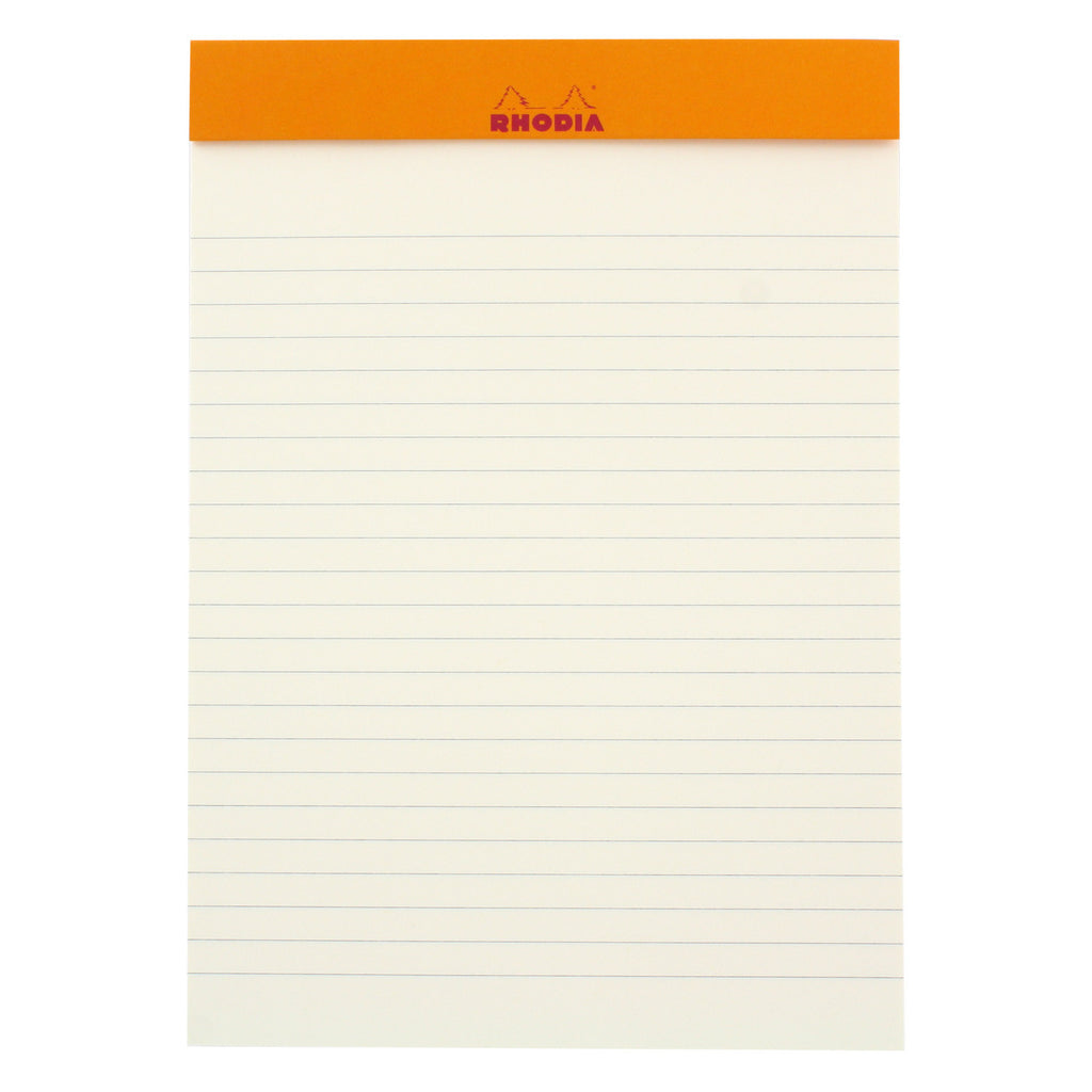 Rhodia Color A5 No. 16 Premium Stapled Lined Notepad, 70 Sheets, 6 x 8 1/4 - Sapphire