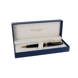 Waterman Expert Black with Gold Trim Medium Point Ballpoint Pen (S0951700)