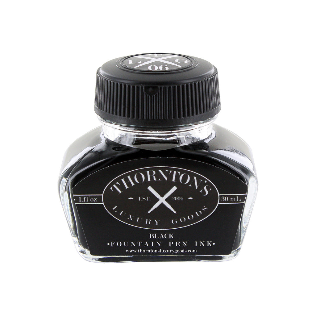 Thornton's Luxury Goods Fountain Pen Ink Bottle, 30ml - Black Ink