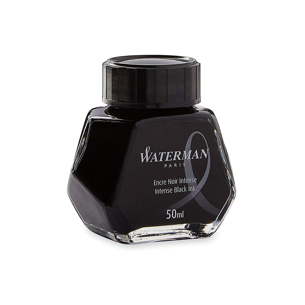Waterman Intense Black Fountain Pen Bottled Ink For Fountain Pens