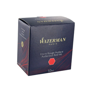 Waterman Audacious Red Fountain Pen Bottled Ink For Fountain Pens in the original packaging.