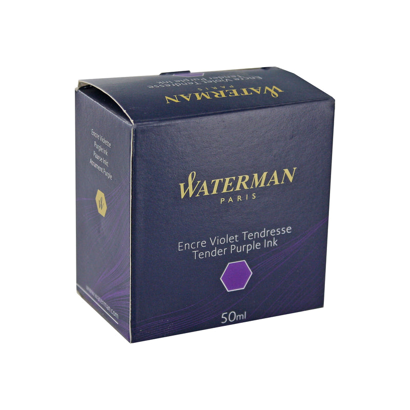 Waterman Tender Purple Fountain Pen Bottled Ink For Fountain Pens in the original packaging.