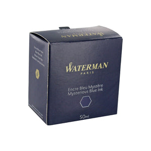 Waterman Mysterious Blue Fountain Pen Bottled Ink For Fountain Pens in the original packaging.