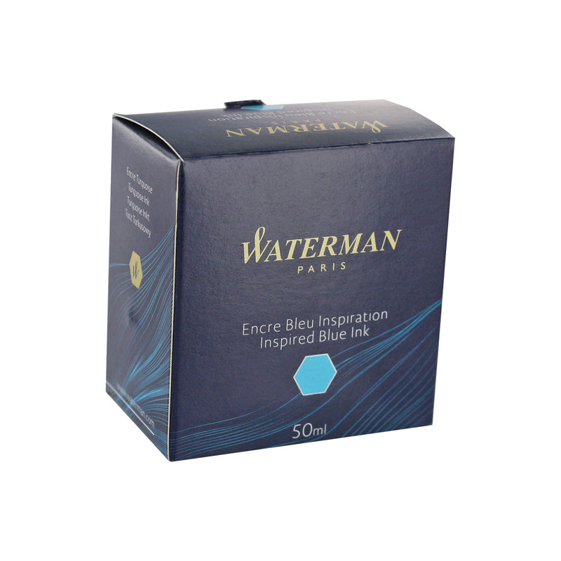 Waterman Inspired Blue Fountain Pen Bottled Ink For Fountain Pens in the original packaging.