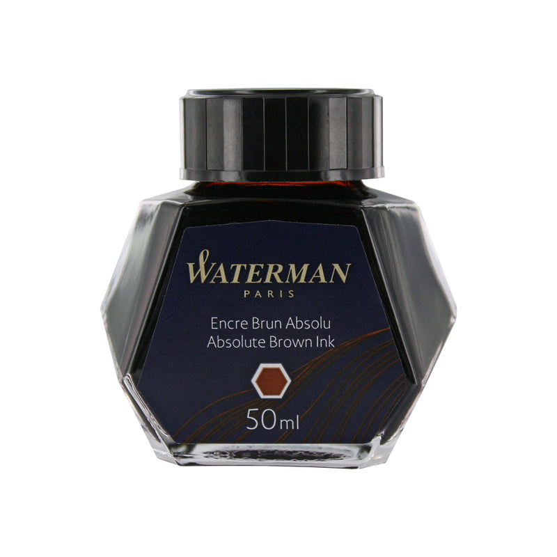 Waterman Absolute Brown Fountain Pen Bottled Ink For Fountain Pens