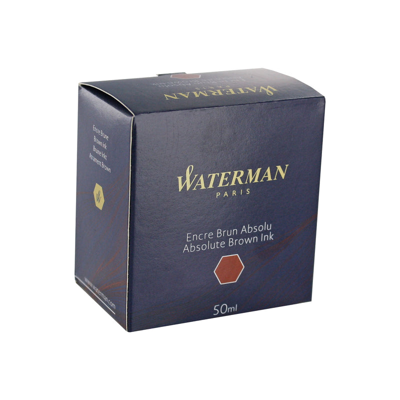 Waterman Absolute Brown Fountain Pen Bottled Ink For Fountain Pens in the original packaging.