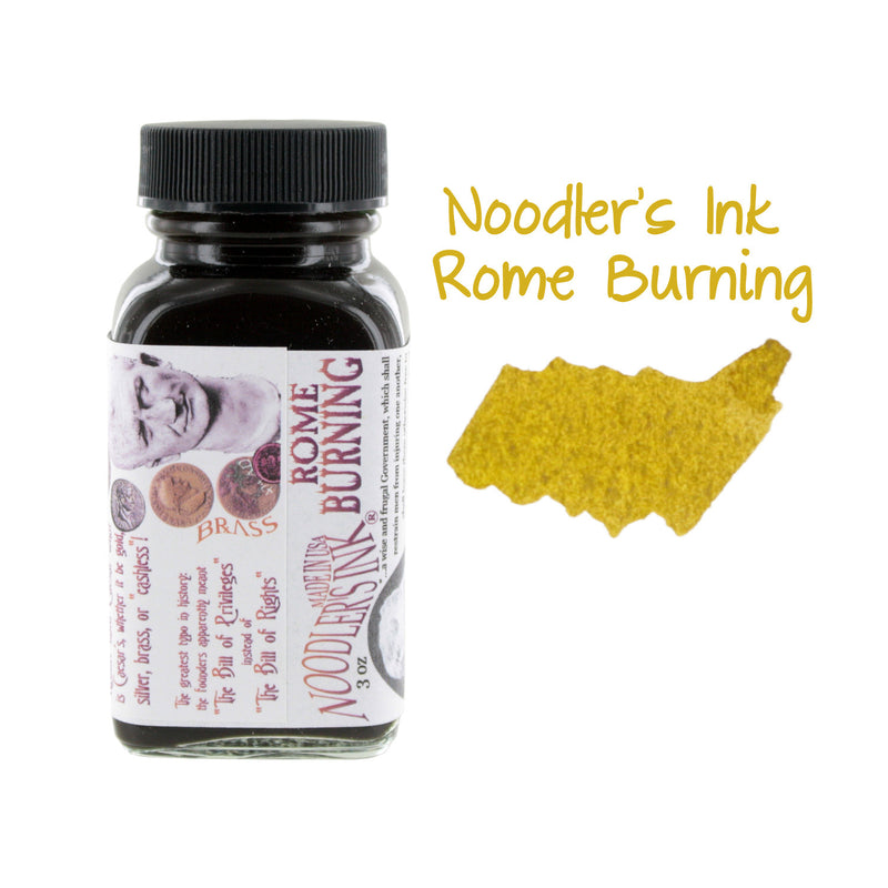 Noodler's Ink Fountain Pen Bottled Ink, 3oz - Rome Burning