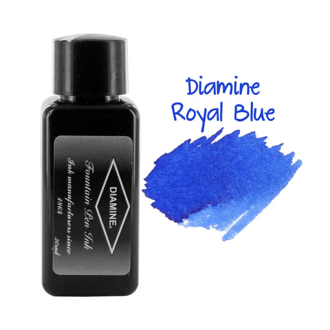 Diamine Fountain Pen Bottled Ink, 30ml - Royal Blue