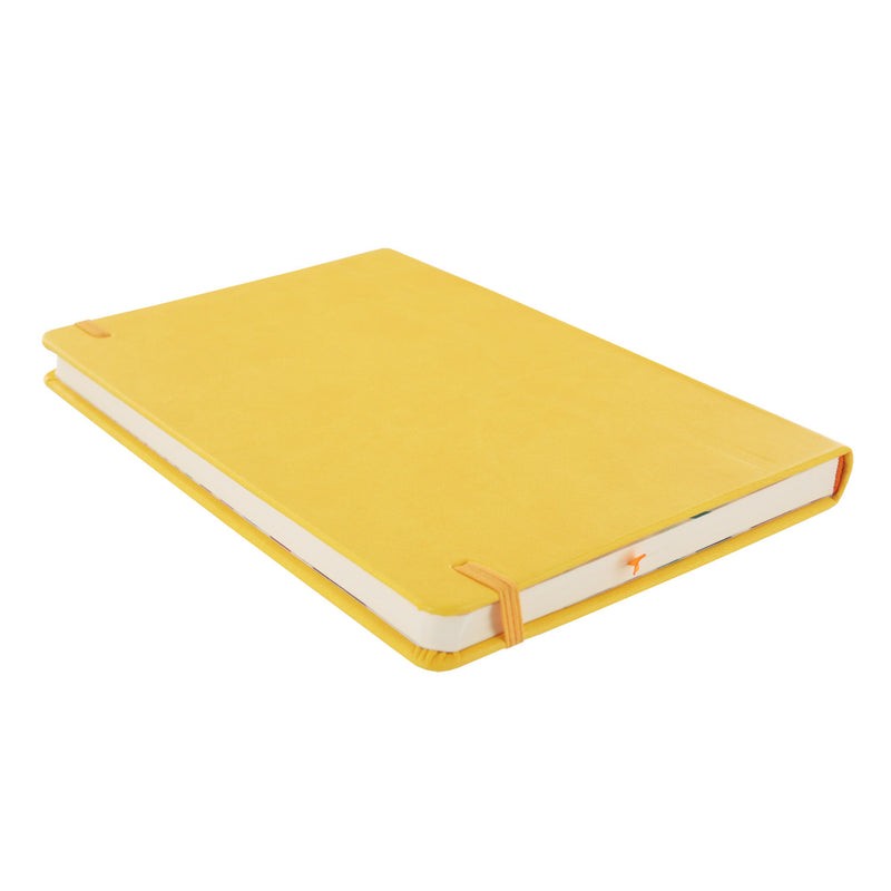 Rhodia Rhodiarama A5 Webnotebook, 5.5 in x 8.25, Lined - Yellow (118756)