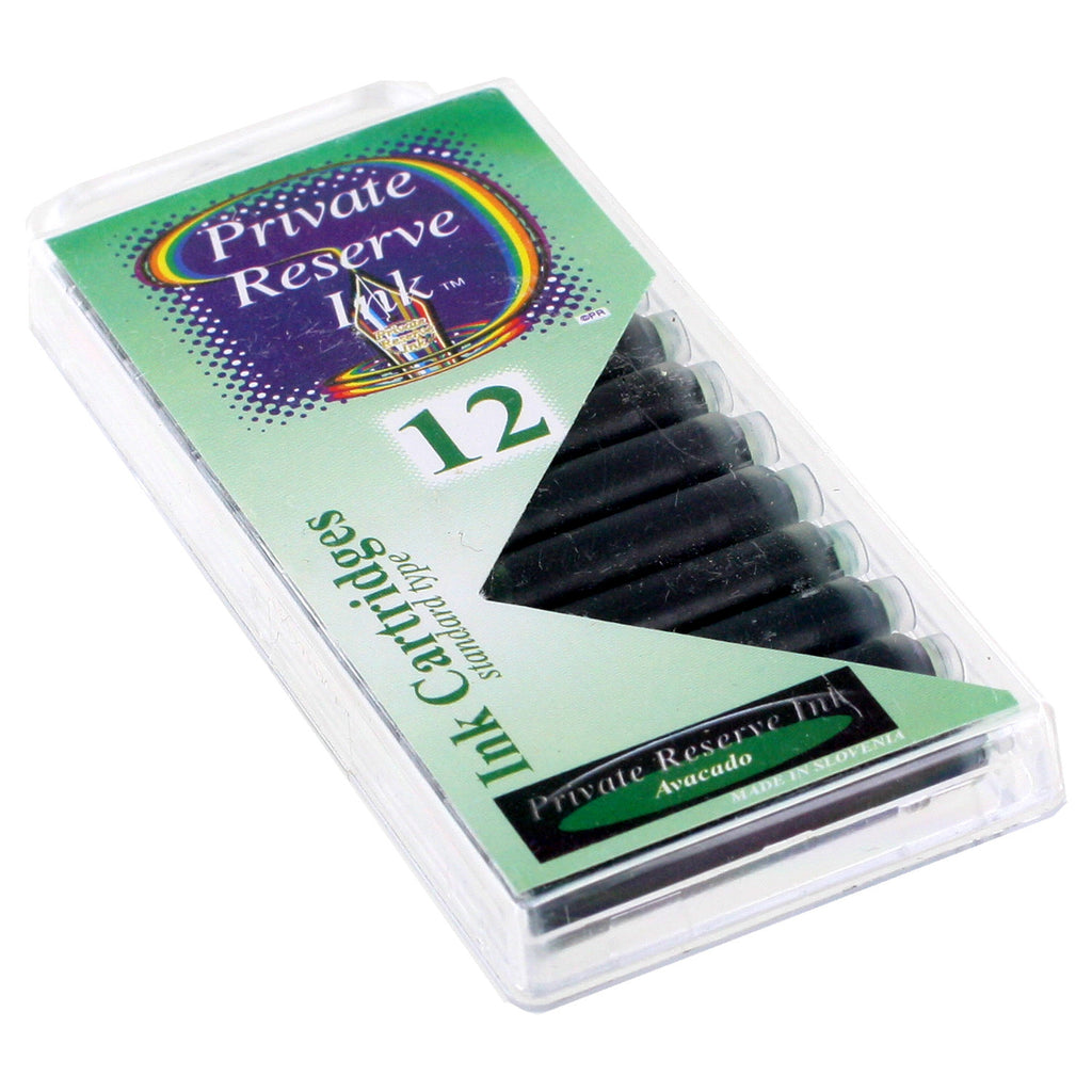 Private Reserve Ink Short International Ink Cartridges, Pack of 12 - Avacado