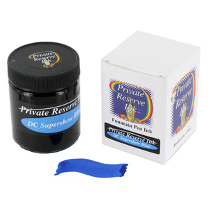 Private Reserve Fountain Pen Bottled Ink, 50ml - DC Supershow Blue