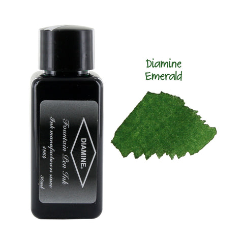 Diamine Fountain Pen Bottled Ink, 30ml - Emerald