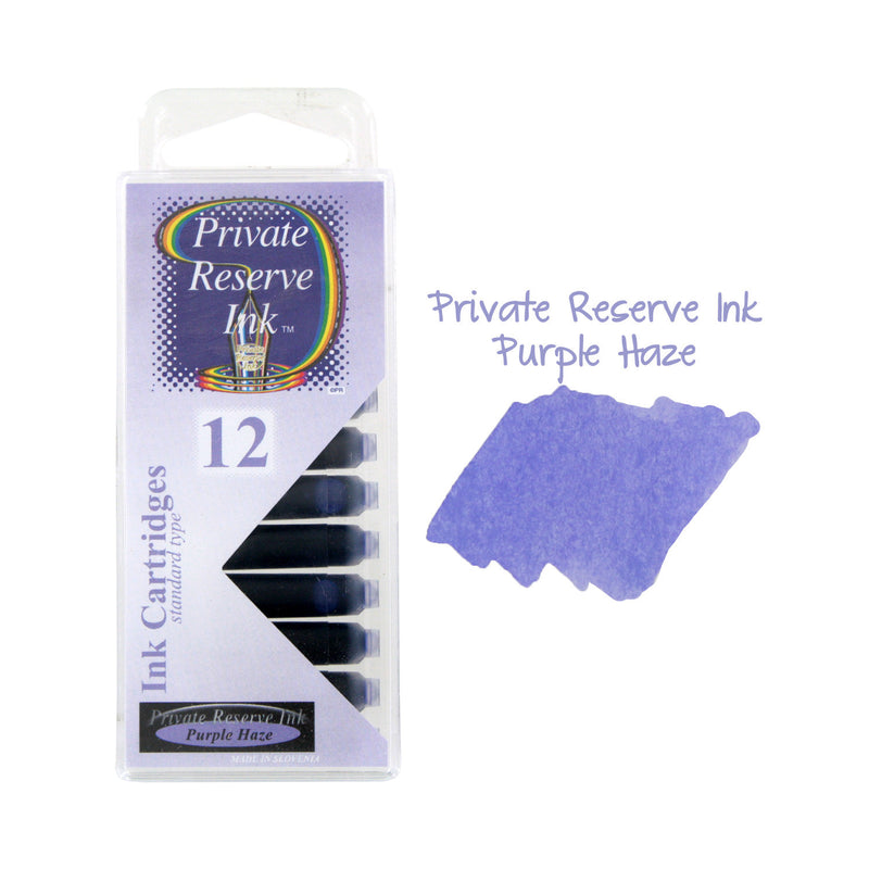 Private Reserve Ink Short International Ink Cartridges, Pack of 12 - Purple Haze