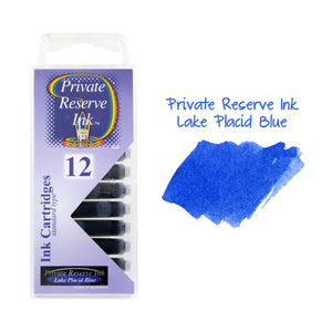 Private Reserve Ink Short International Ink Cartridges, Pack of 12 - Lake Placid Blue
