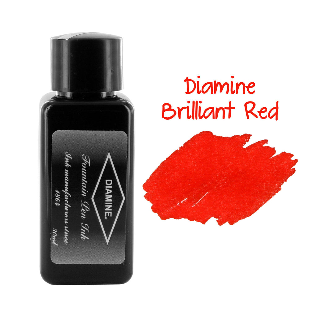 Diamine Fountain Pen Bottled Ink, 30ml - Brilliant Red