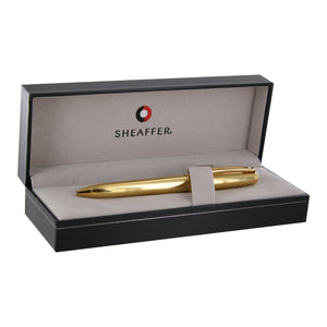 Sheaffer Prelude Fluted 22K Gold Plate Finish with 22K Gold Plate Trim Retractable Ball Point Pen