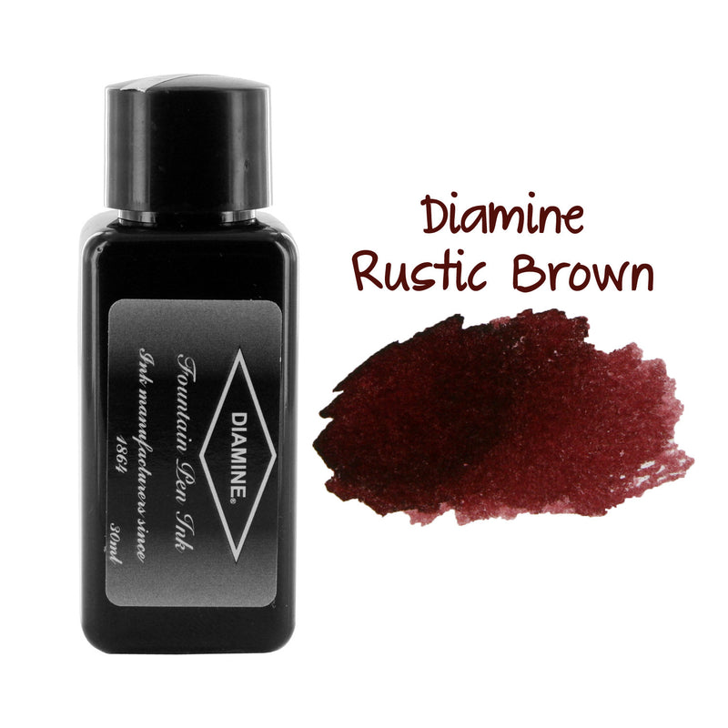 Diamine Fountain Pen Bottled Ink, 30ml - Rustic Brown
