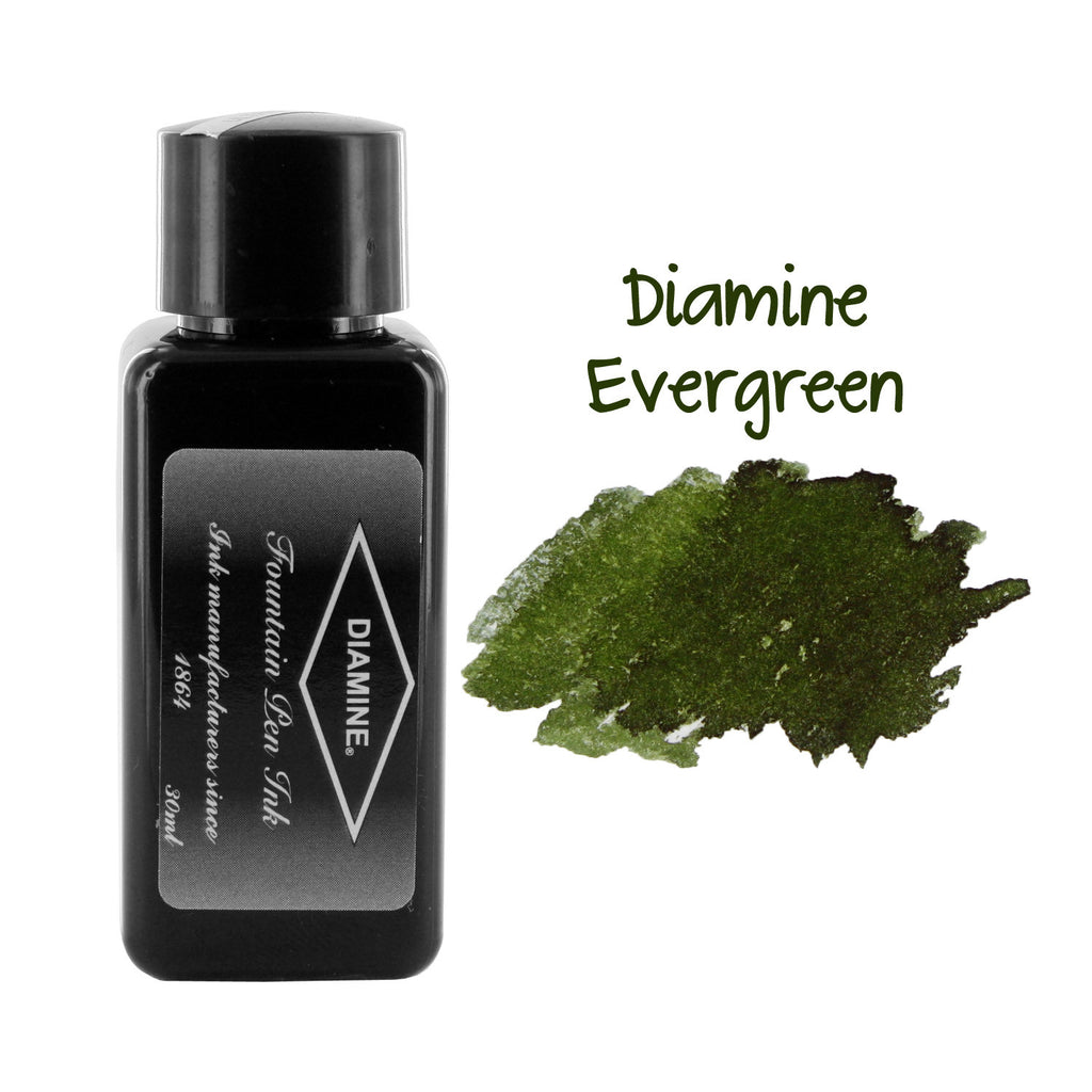 Diamine Fountain Pen Bottled Ink, 30ml - Evergreen