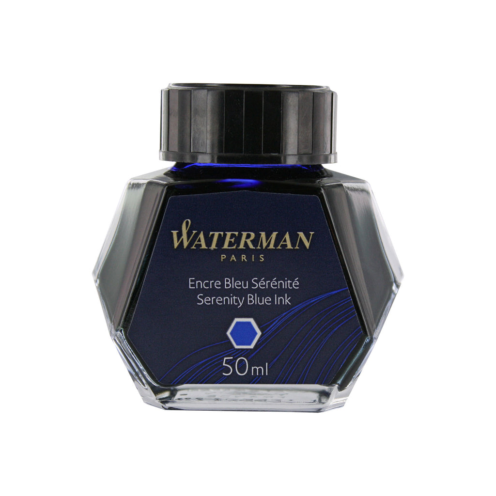 Waterman Serenity Blue Fountain Pen Bottled Ink For Fountain Pens