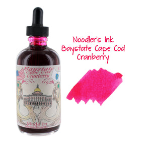Noodler's Ink Fountain Pen Bottled Ink w/ Eyedropper, 4.5 oz w/ Free Pen. - Baystate Cranberry