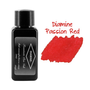 Diamine Fountain Pen Bottled Ink, 30ml - Passion Red