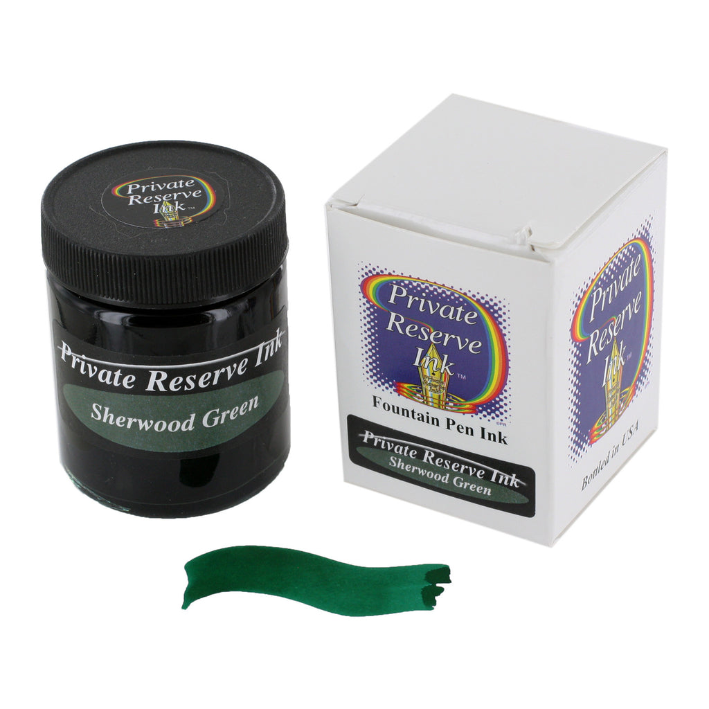 Private Reserve Fountain Pen Bottled Ink, 50ml - Sherwood Green Fast Dry