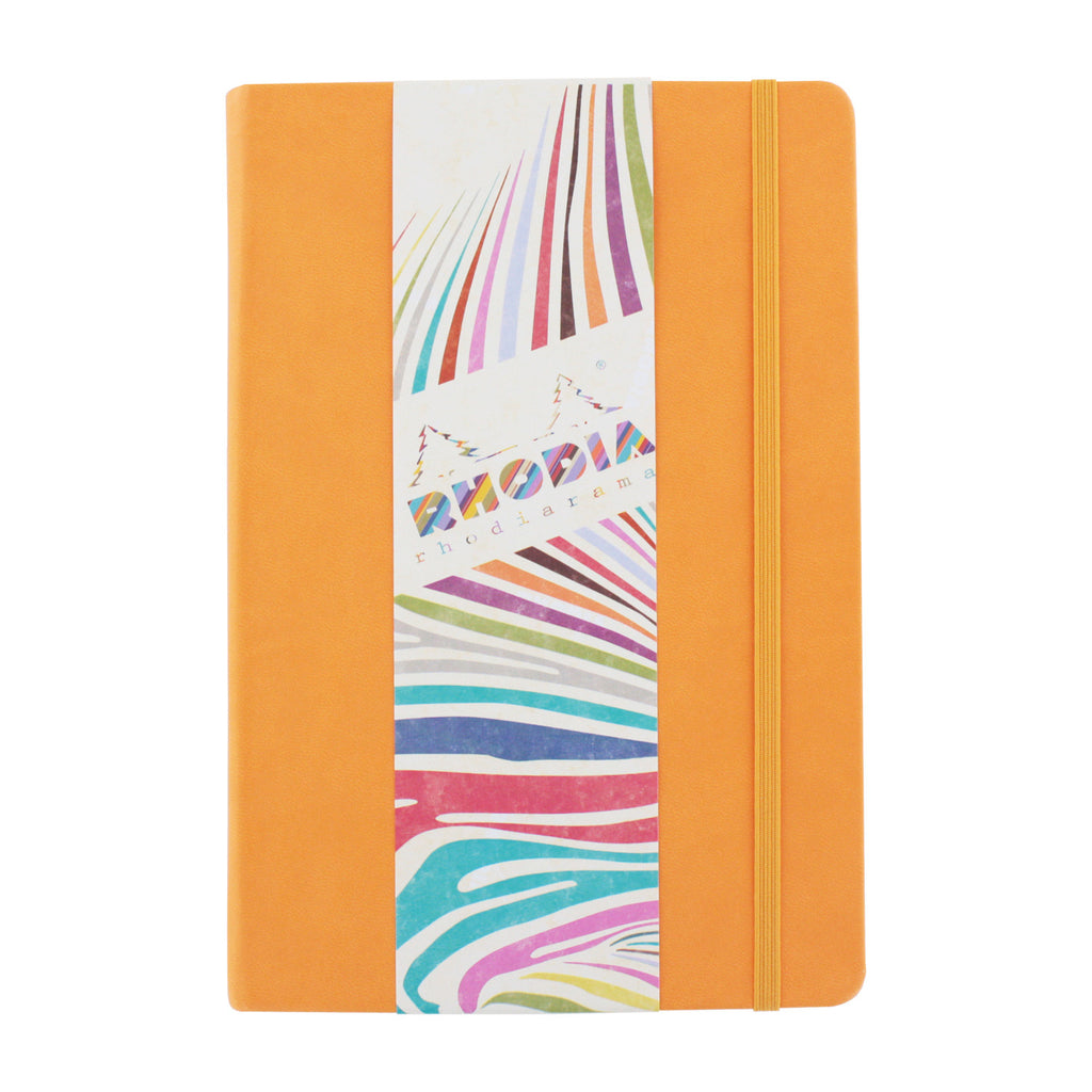 Rhodia Rhodiarama A5 Webnotebook, 5.5 in x 8.25, Lined - Orange (118755)
