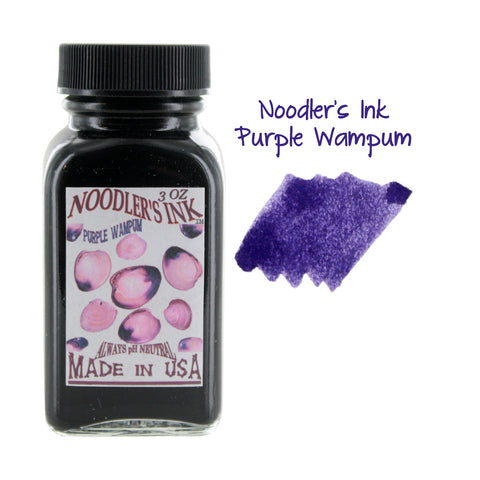 Noodler's Ink Fountain Pen Bottled Ink, 3oz - Purple Wampum
